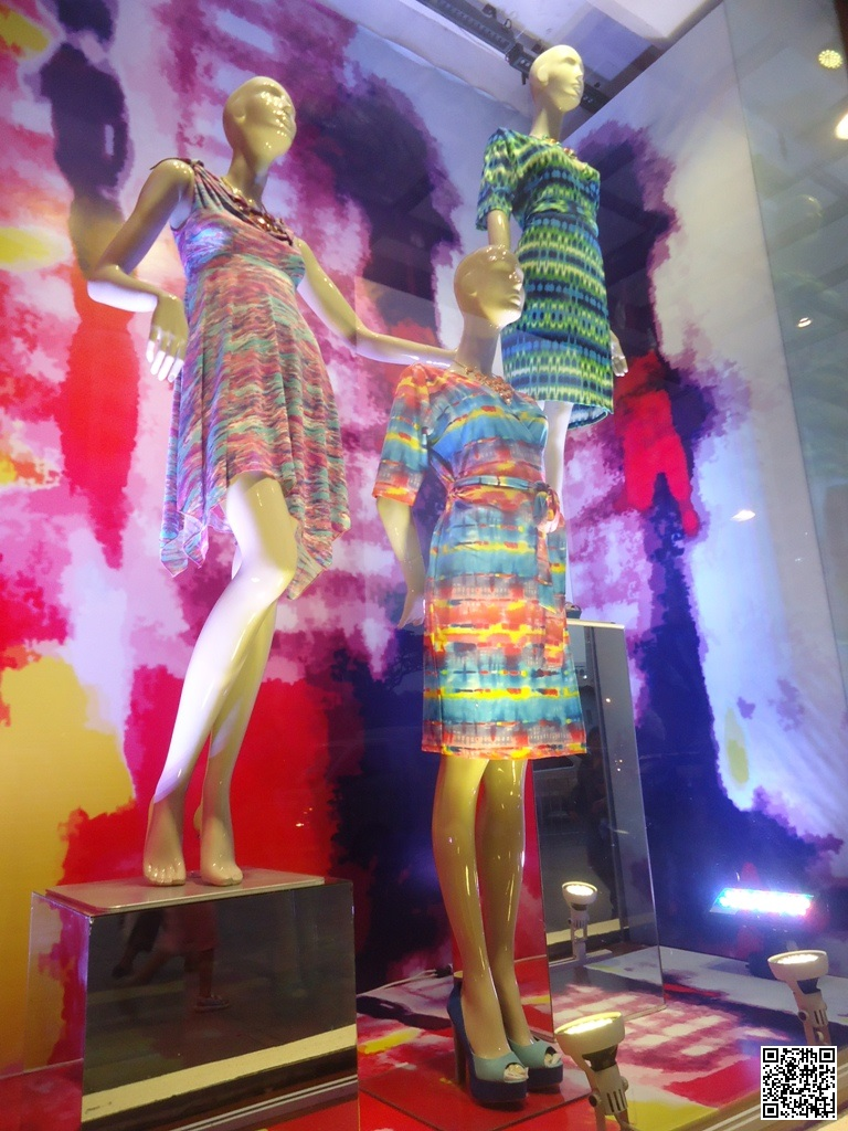 Window Display: Belle Mama, Jill, Culte Femme, Criselda Lontok, and Oleg Cassini,  - Rustan's Mother's Day Theme
