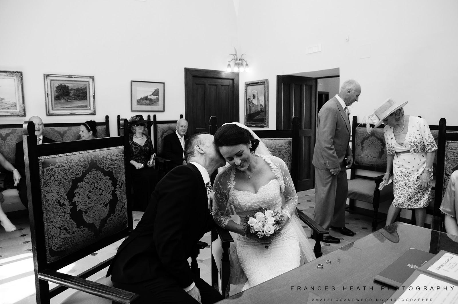 Wedding ceremony in Ravello town hall