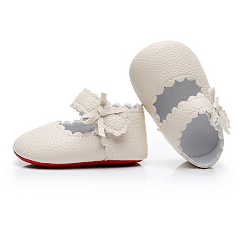 98a0d7ec3dcaaa HONGTEYA Infant Baby Girls Red Sole Ballet Dress Shoes Mary Jane Princess  Soft Sole Frist Walkers Crib Moccasins (0-6 Months US 3.5 4.33