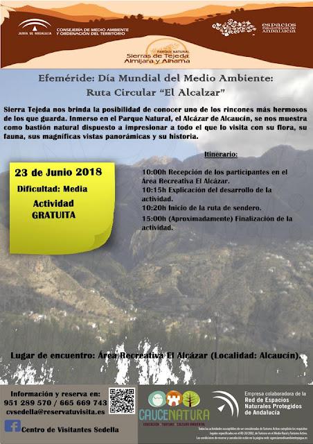 Ruta senderista gratuita por el Alcázar de Alcaucín