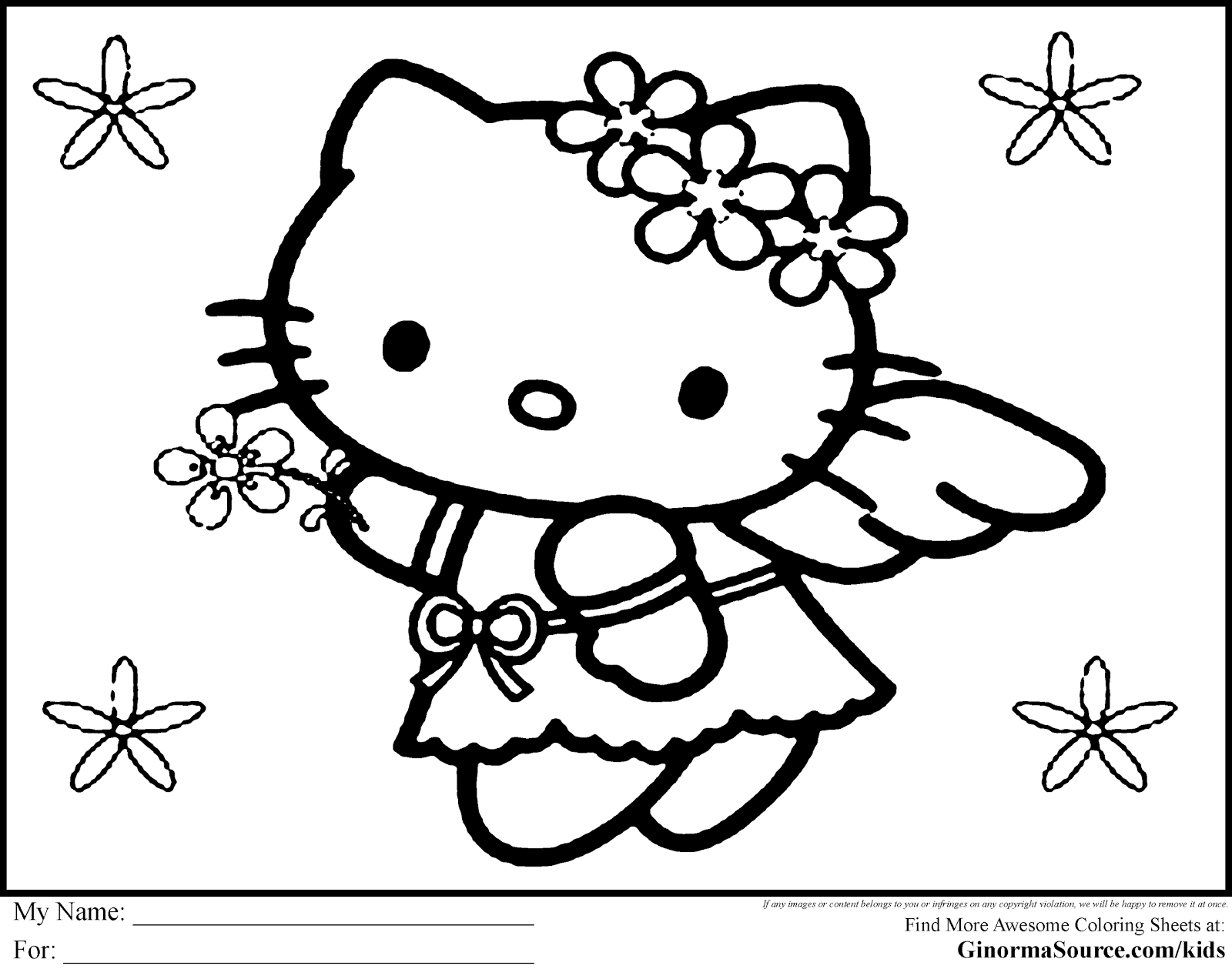 Top 10 Hello Kitty Zombie Halloween Coloring Pages Image