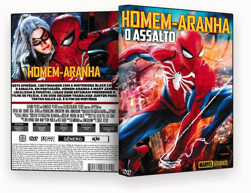 CAPA DVD – HOMEM ARANHA O ASSALTO DVD-R 2018