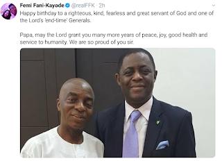 FFK celebrates with Bishop Oyedepo on his birthday