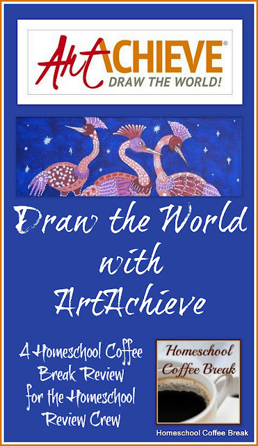 Draw the World with ArtAchieve (A Homeschool Coffee Break Review) @ kympossibleblog.blogspot.com - our full review of ArtAchieve art lessons for kids for the Homeschool Review Crew