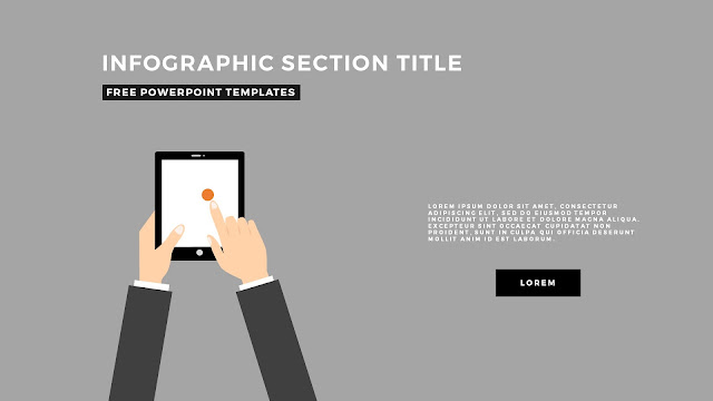 Flat Design Infographic Elements with Section Title for PowerPoint Template Slide 3