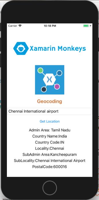 Xamarin Monkeys: Xamarin Forms - Geocoding Get Full Address