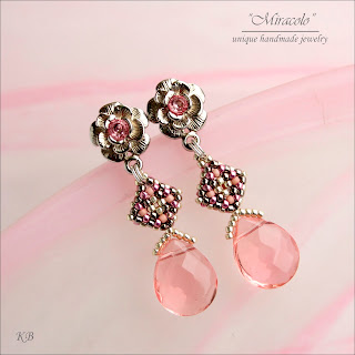 kolczyki z wisiorkiem, earrings and pendant
