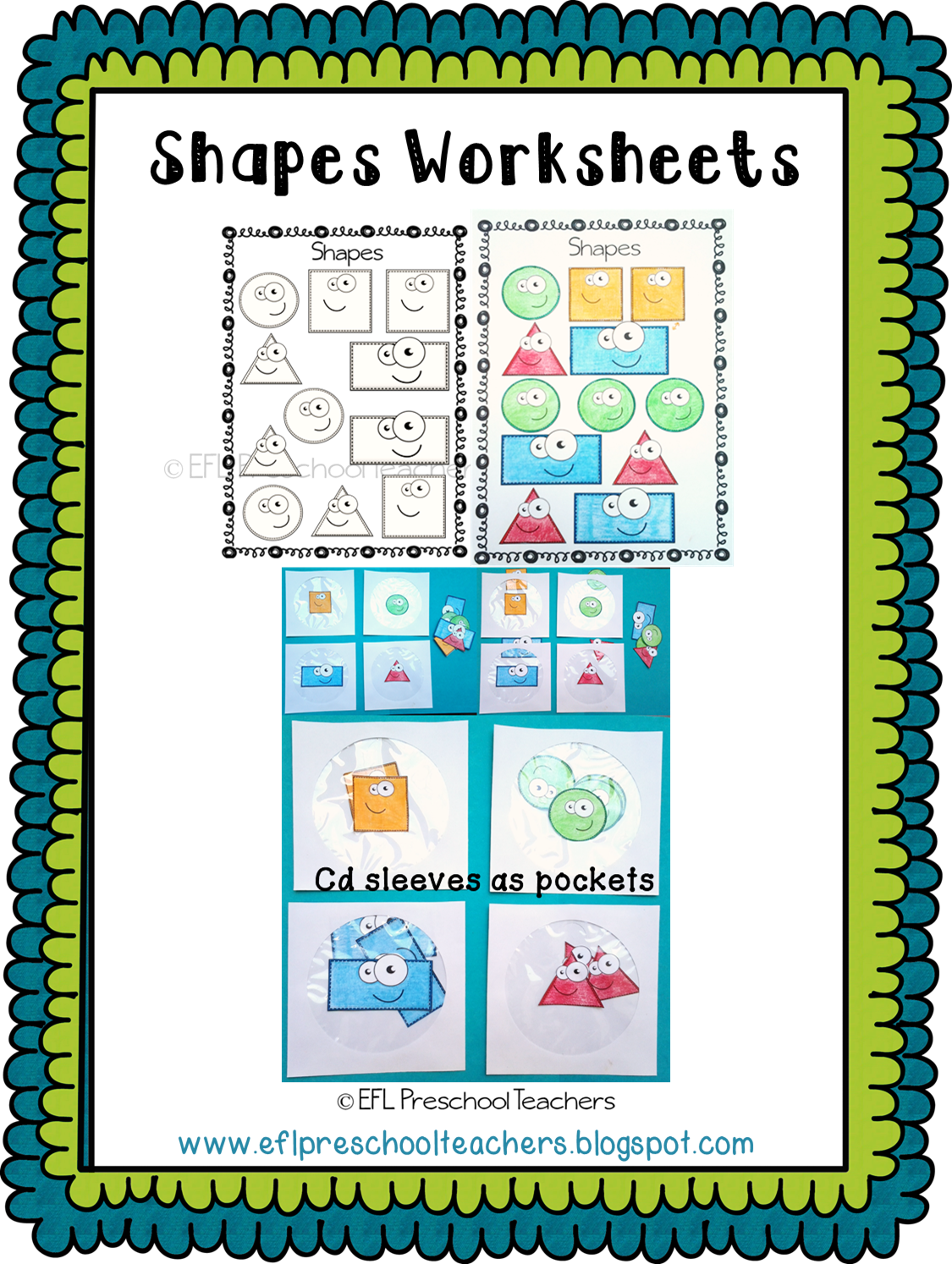 ESL/EFL Preschool Teachers: Shape Worksheets for Preschool ELL
