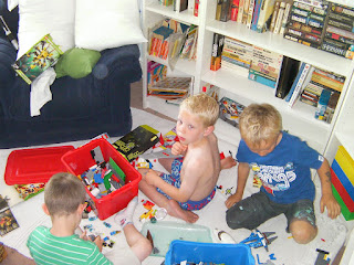 playing in the lego room