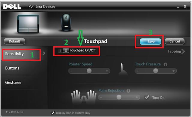 Cách tắt nhanh chuột cảm ứng Touchpad máy laptop Dell