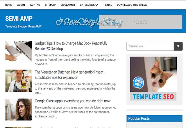 Chia sẻ Template Blogspot APM Semi SEO cực tốt