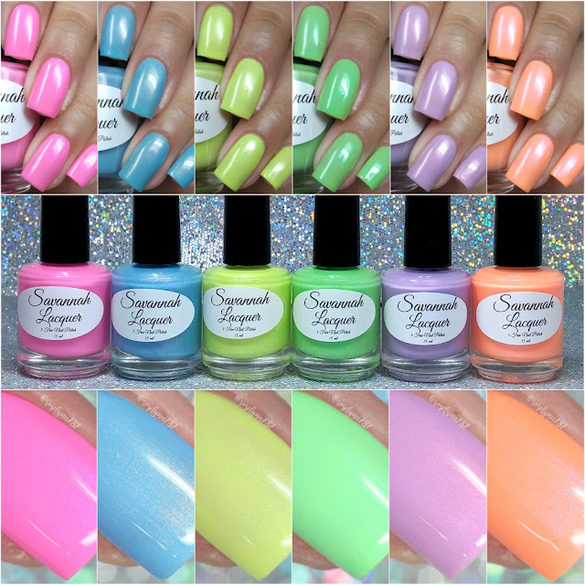 Savannah Lacquer - Salt Water Taffy Collection