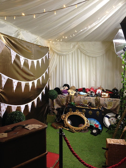 Wedding set up photo booth Weymouth Dorset  02
