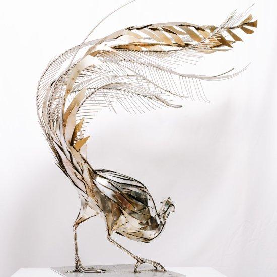 Georgie Seccull arte esculturas metálicas de animais sucata
