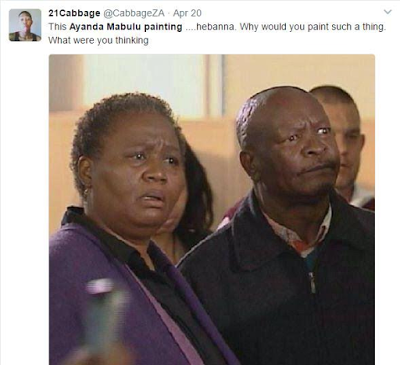 South African artist causes outrage on social media for making artwork of President Zuma having sex with Mandela