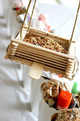 popsicle stick bird feeders craft