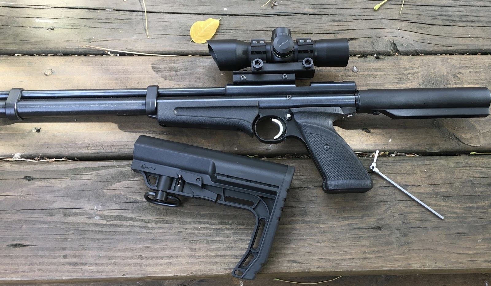 Another Airgun Blog: AR-15 Stock Adapter for a Crosman 22XX