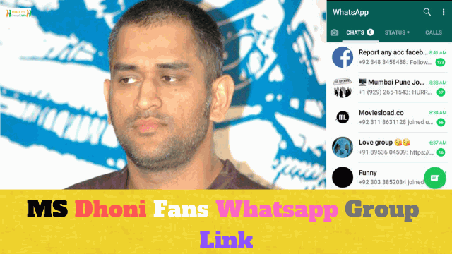 80+ Best MS Dhoni Fans Whatsapp Group Link List
