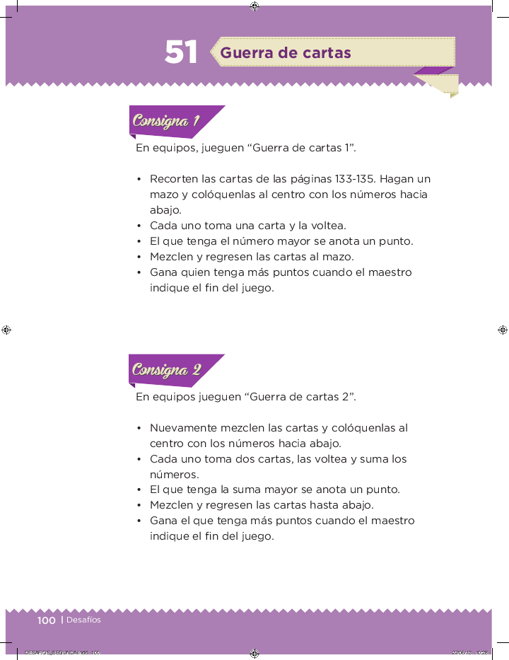¡Guerra de cartas! desafios matemáticos 2do bloque 5/2014-2015