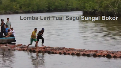 Wisata Sungai Bokor di Kabupaten Meranti lomba lari tual sagu