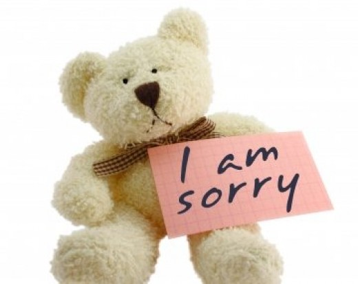How to say sorry to female