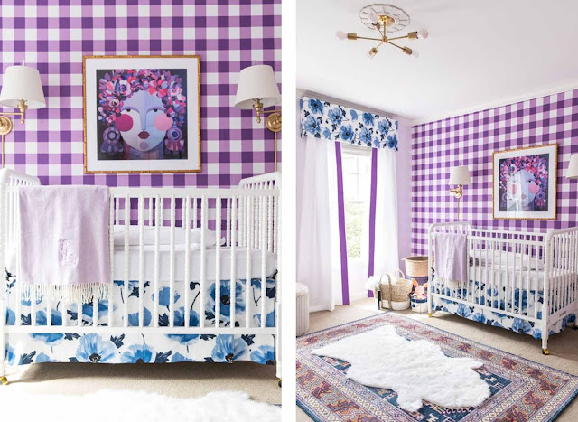 decoración dormitorio Ultra Violet