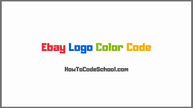 Ebay Logo Color Code