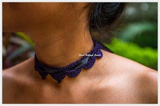free crochet jewellery pattern, free crochet choker pattern