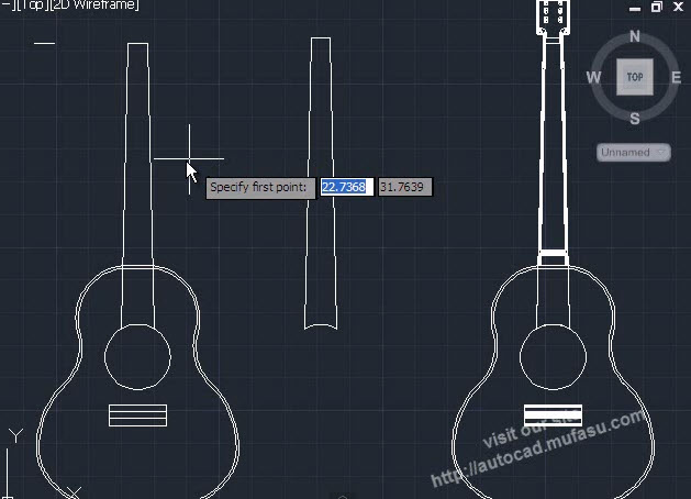 Autocad 2014 3d Drawing Model Guitar With An Example Of