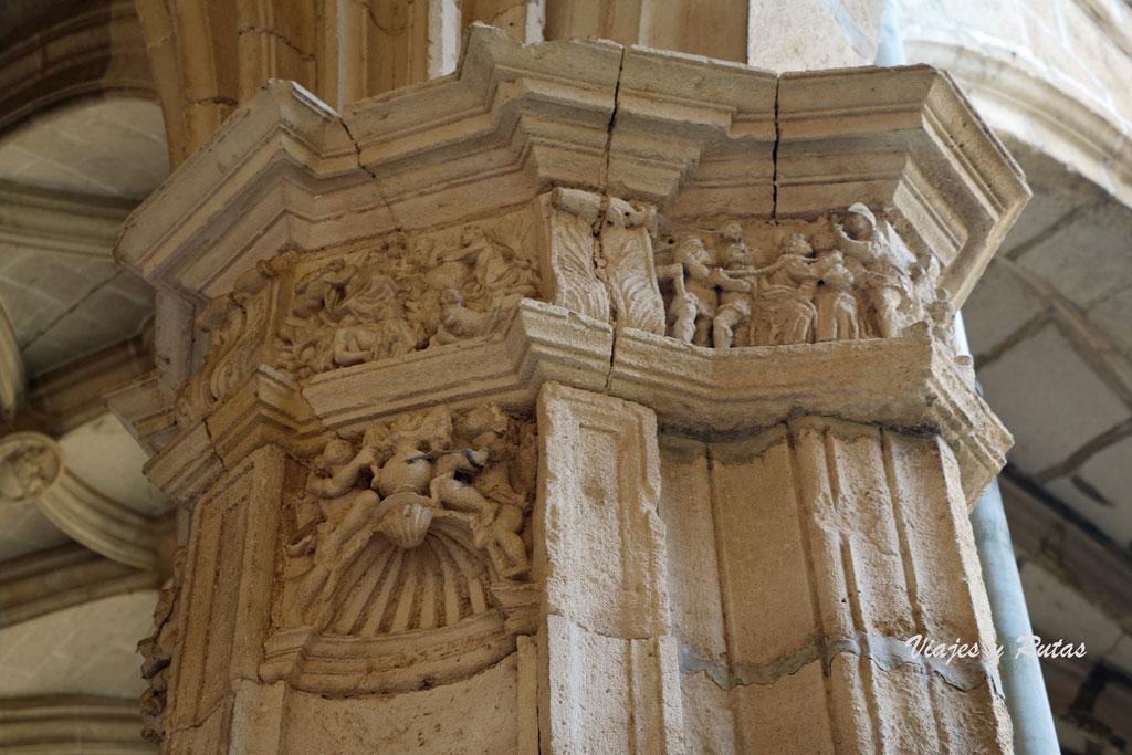Detalle del Claustro viejo del Monasterio de Irache