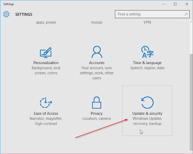 Mematikan  windows defender windows 10 melalui Setting