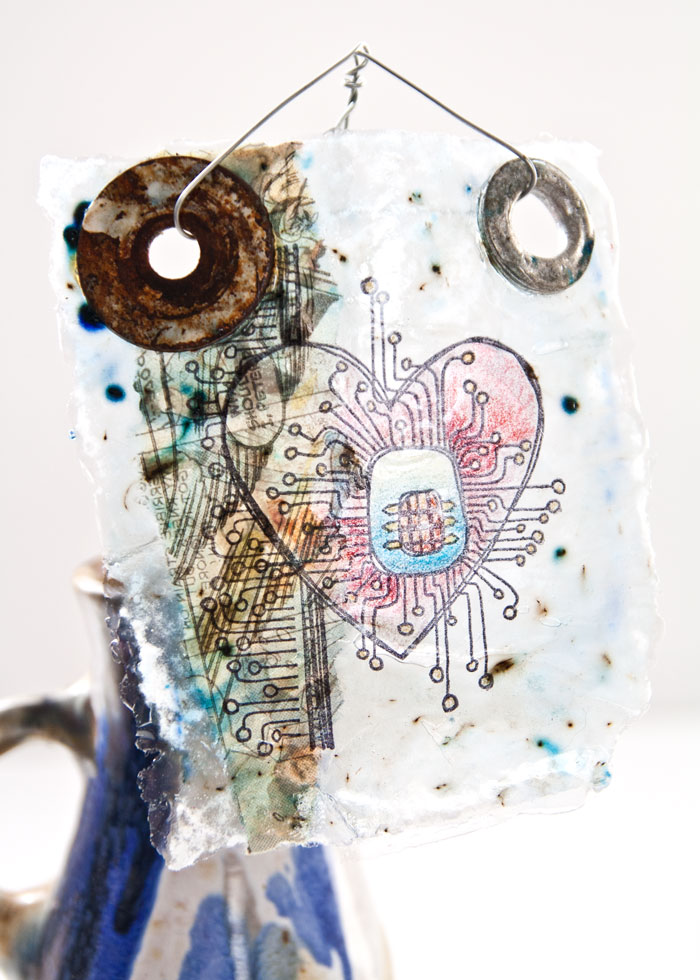 PaperArtsy Found Object Gel Skin by Kim Dellow