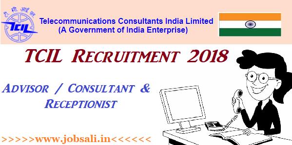 TCIL Receptionist Vacancy, Govt jobs in Delhi
