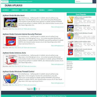 Dijual Blog Niche Aplikasi Atau Software Niche Abadi