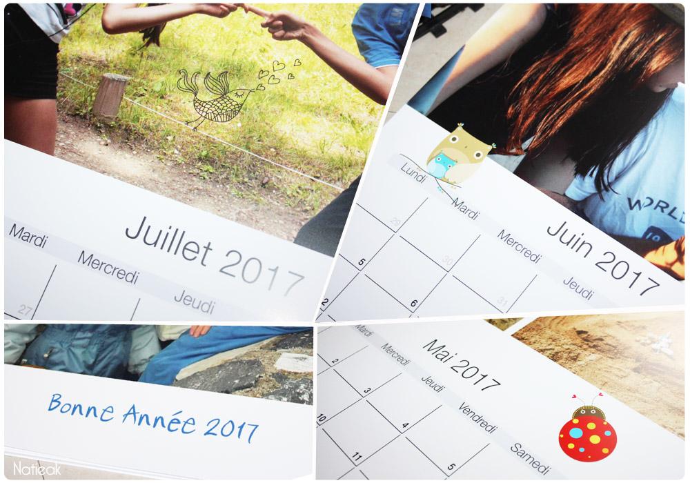 calendrier mural personnalisé de Carteland
