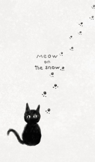 Meow on the snow