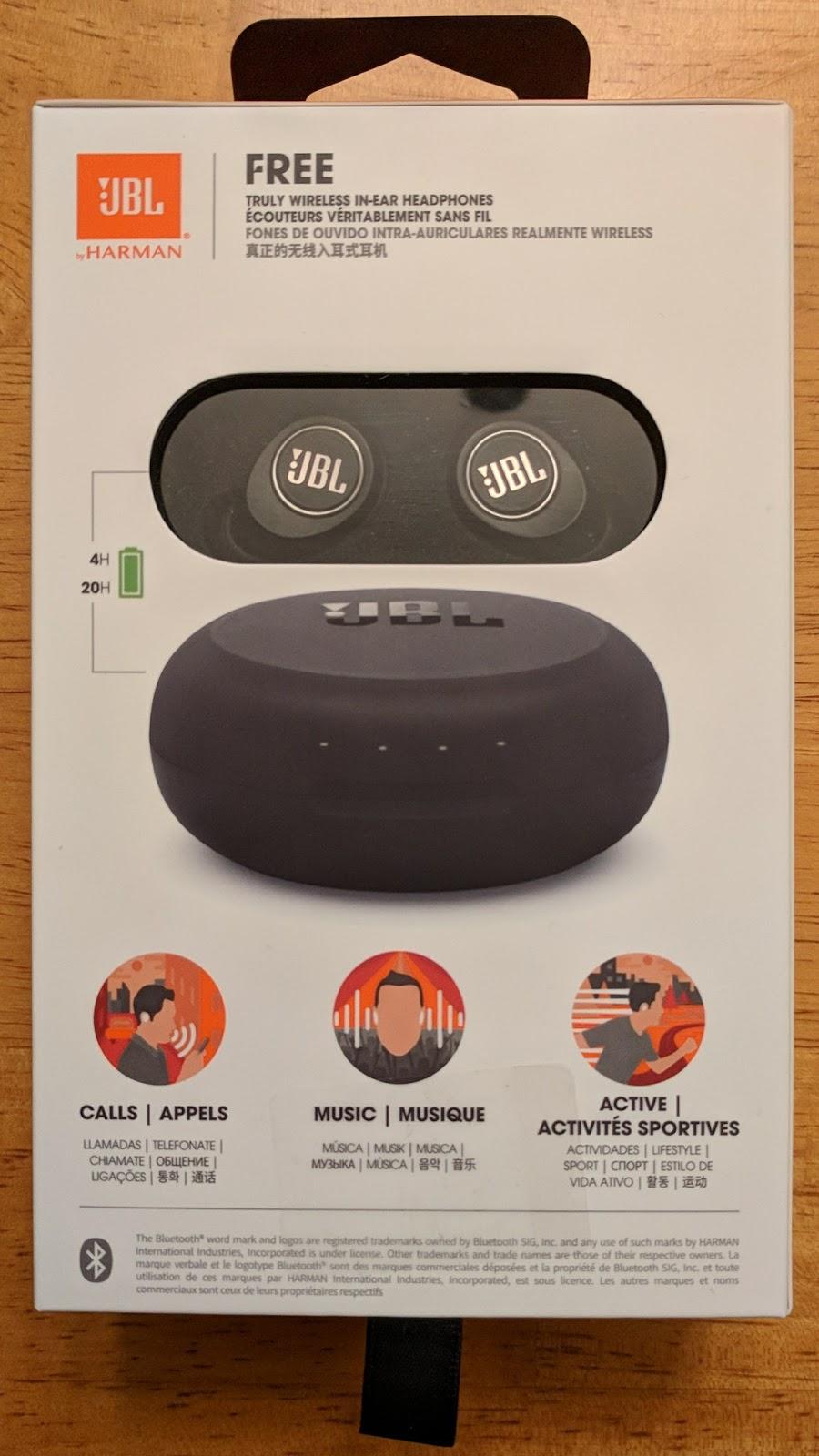 Bryan Hill's Blog: Product Review: JBL - Free True Wireless
