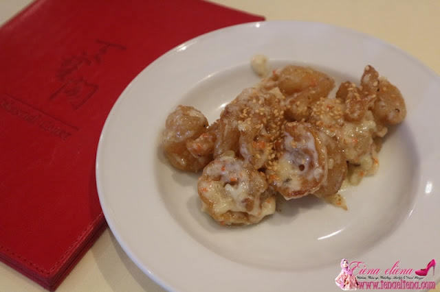 Sesame Prawn Served With Minced Nutmeg And Mayo