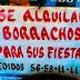 Alquiler de Borrachos