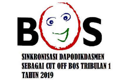 Batas Akhir Sinkronisasi Dapodikdasmen Untuk Cut OFF BOS Tribulan 1 Tahun 2019