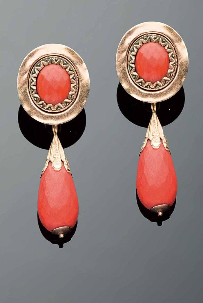 orecchini pendenti in oro fine 800
