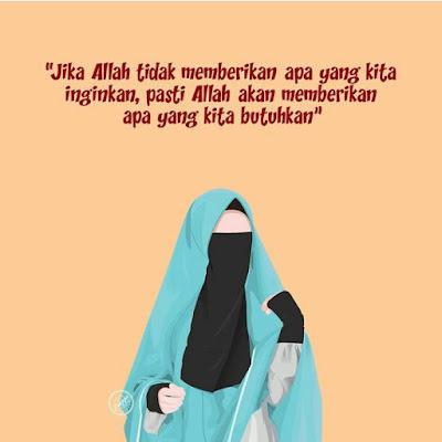 DP BBM Gambar Kata Wanita Muslimah Bercadar