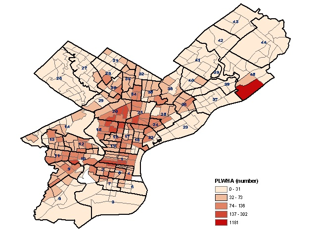 Philadelphia Census Tract Map Office of HIV Planning: Map of Philadelphia HIV/AIDS Epidemic
