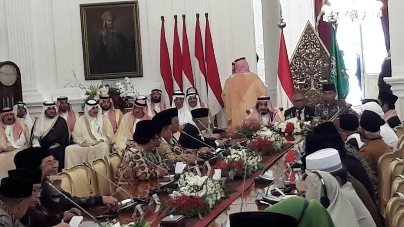 Ulama Indonesia bertemu Raja Salman di Istana Merdeka