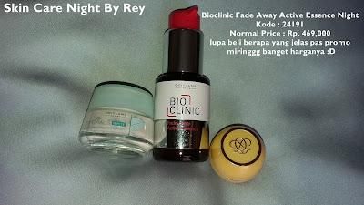 skin care Oriflame yang dipakai di malam hari