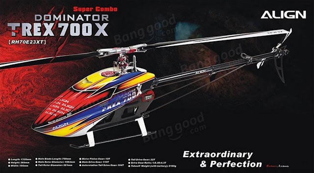 RC Helicopter Super Combo Align TREX 700X Dominator 2