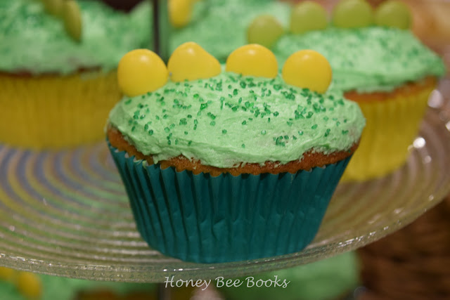 Dragon cupcake at the launch of Cate Whittle's book, Trouble At Home