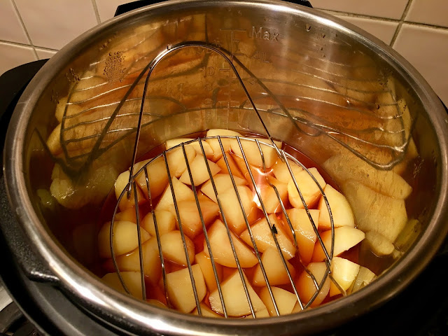 Instant Pot Pressure Cooker Paprika Chard and Potatoes recipe by Feisty Tapas. Instant Pot Pressure Cooker Paprika Chard and Potatoes recipe by Feisty Tapas Step 3 b: Chard removed to a bowl, now time to remove the trivet and the potatoes and give it a quick rinse and dry