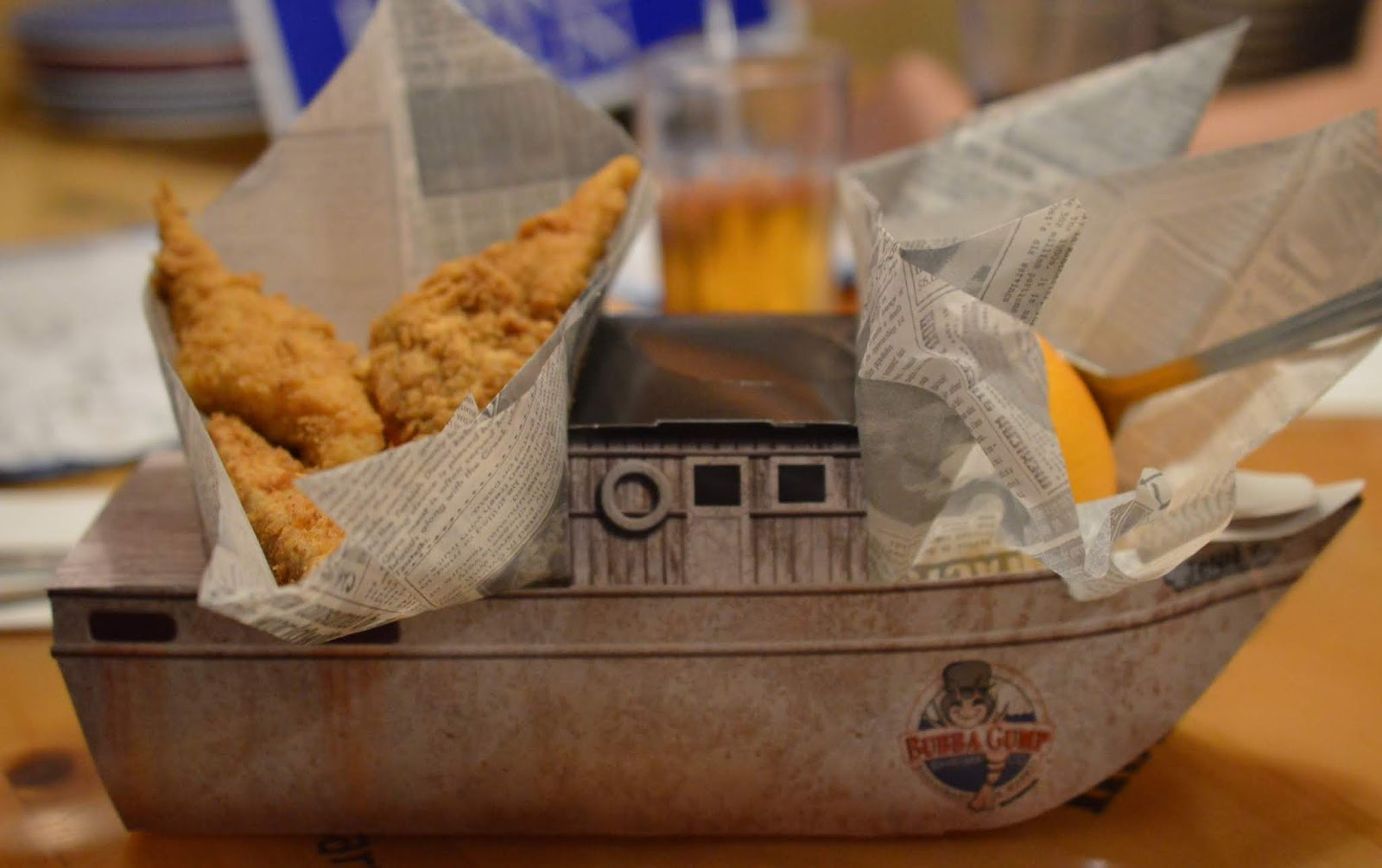 The LNER Family Return Ticket Newcastle-London. #OurLNER #FamilyReturn  - Children's Meal at Bubba Gump London
