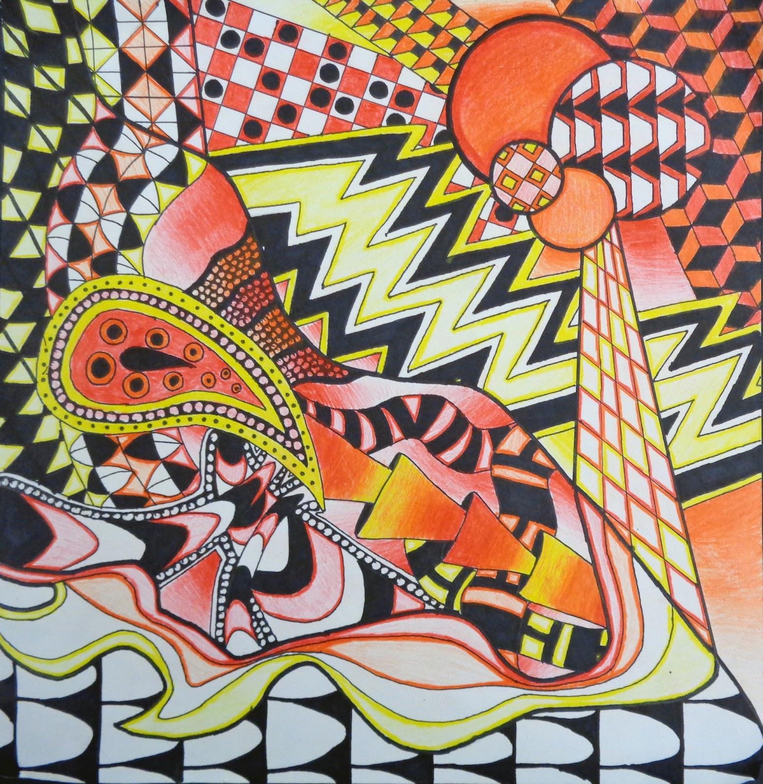 Hudsonville Art Program Zentangle Non Objective Project